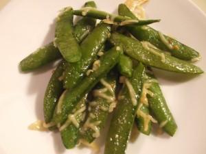 Sugar Snap Peas with Fresh Parmesan