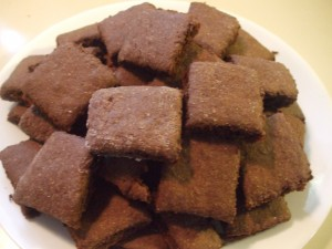 Whole Wheat Chocolate Crackers
