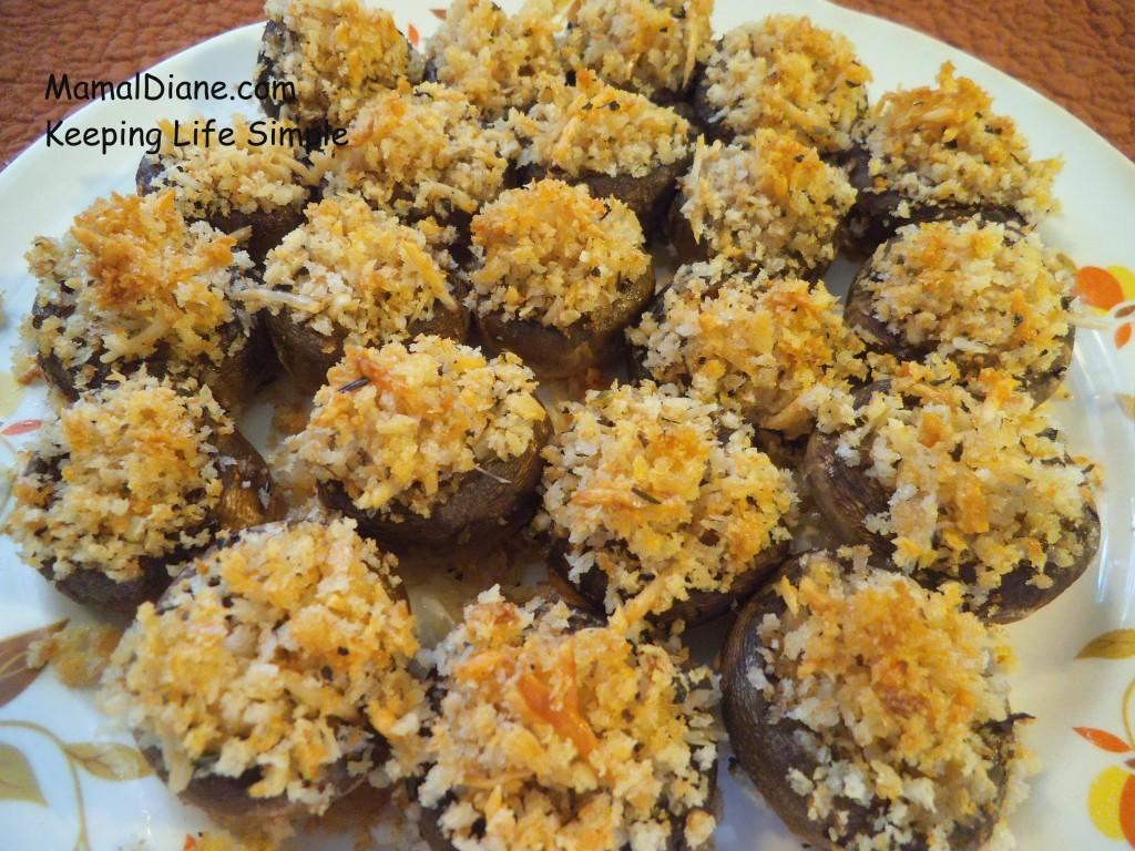 Fresh Cheese Stuffed Mushrooms 022