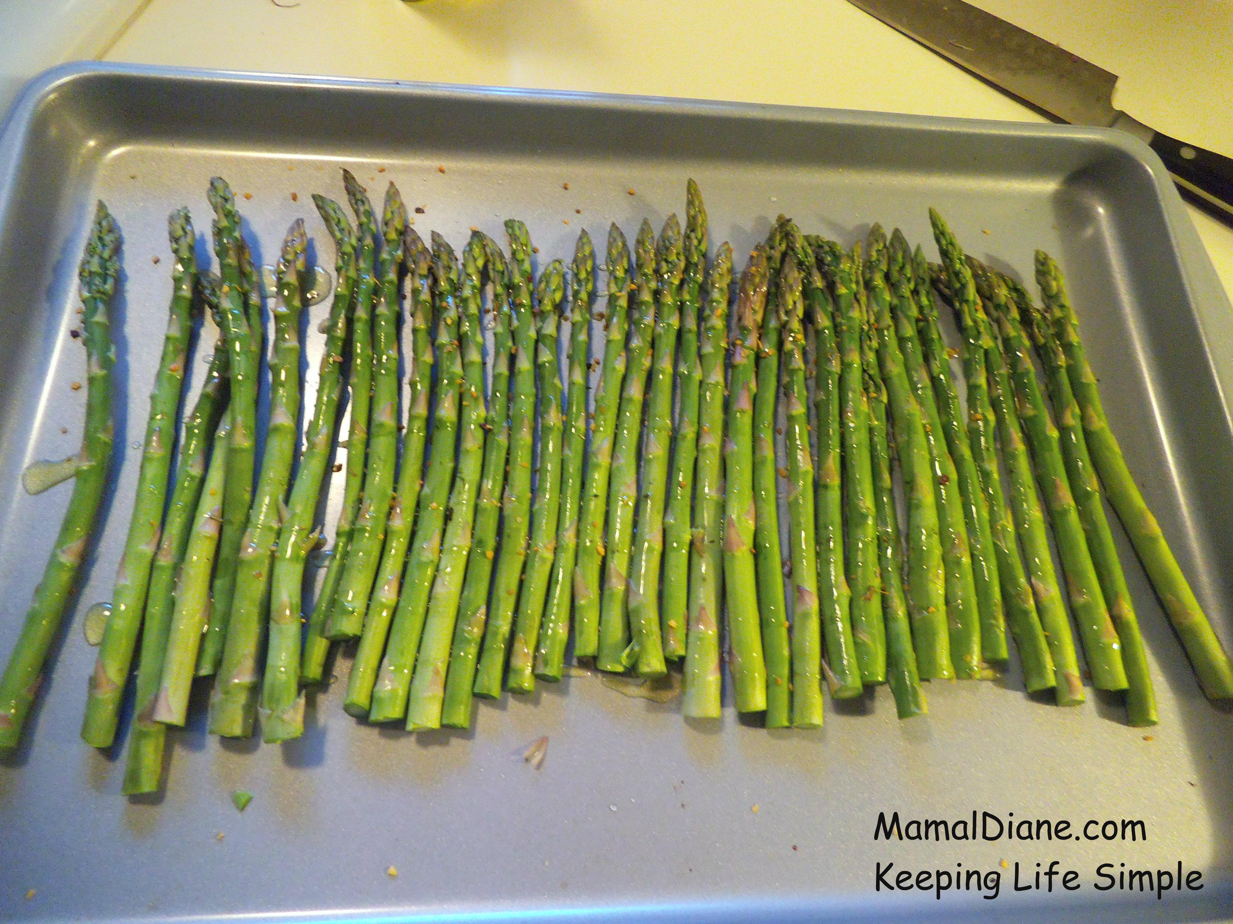 Bake Oven Roasted Asparagus €� Mamal Diane