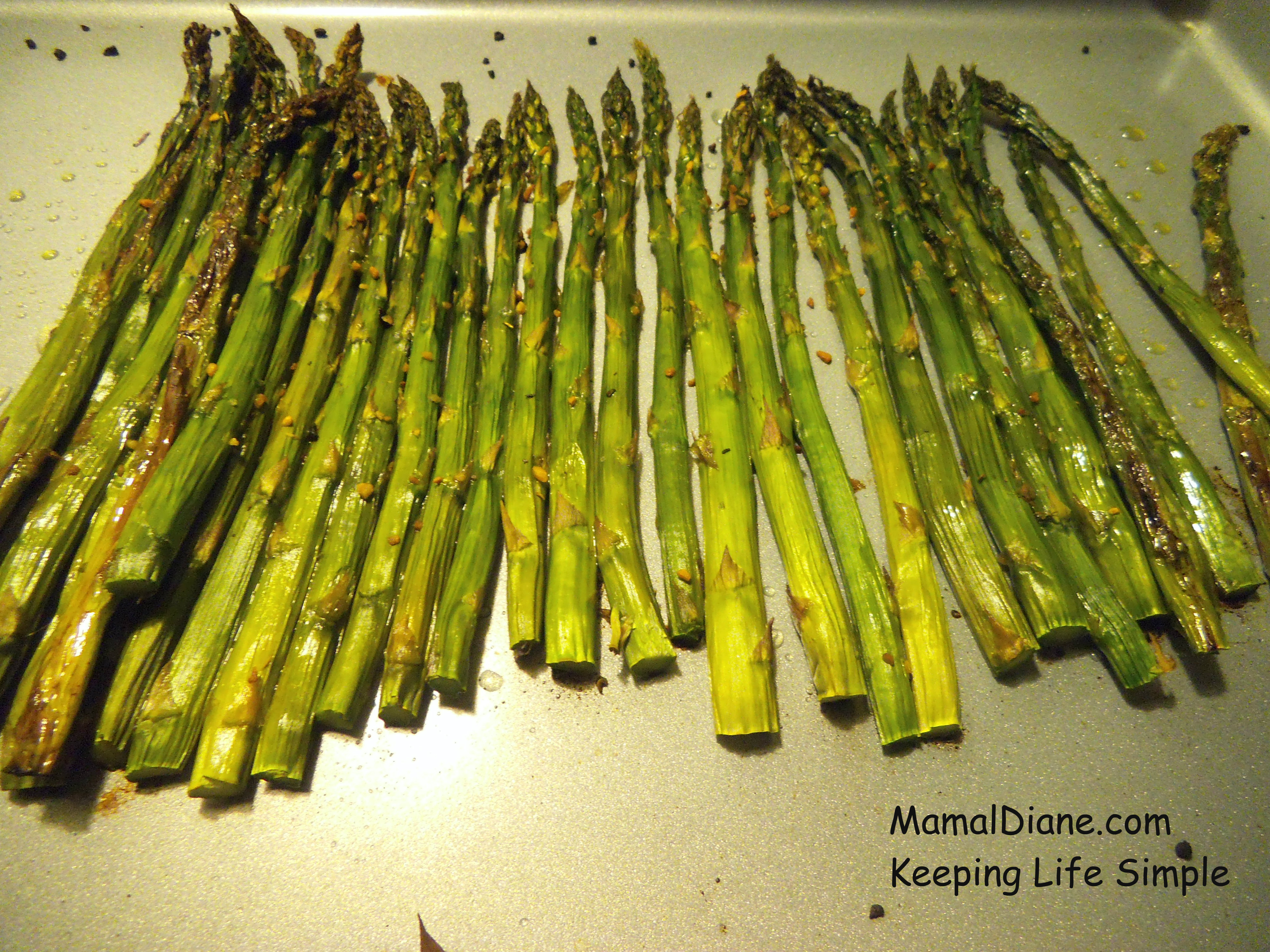 Oven Roasted Asparagus – Mamal Diane