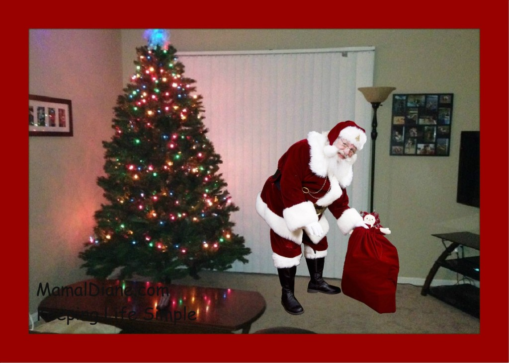 I Made This One For My Grand Kids. Santa Is In Their Living Room!!!