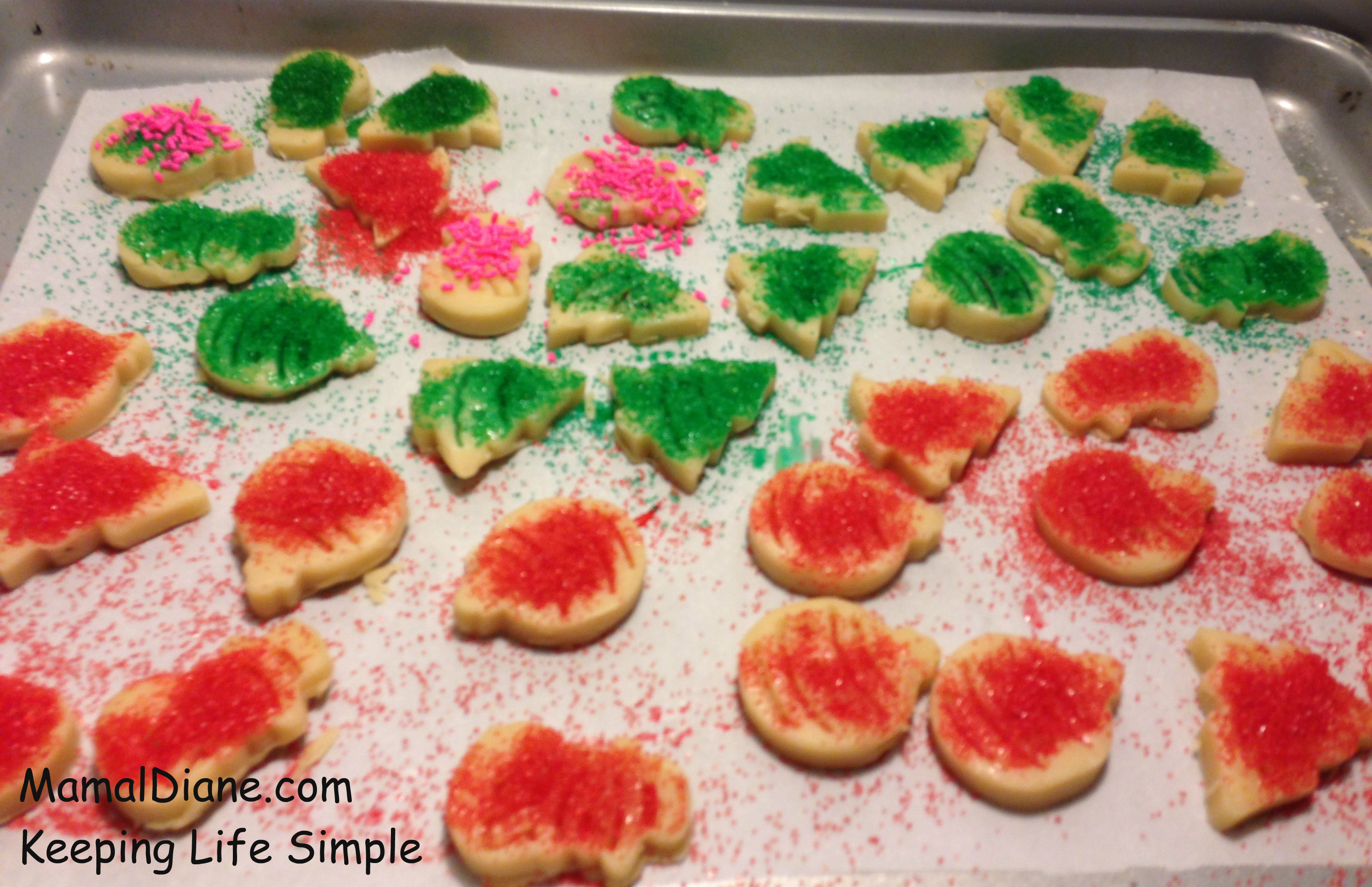 Cut Out Holiday Butter Cookies