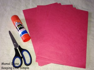 Red Paper Chain ~ Preschool Craft 006