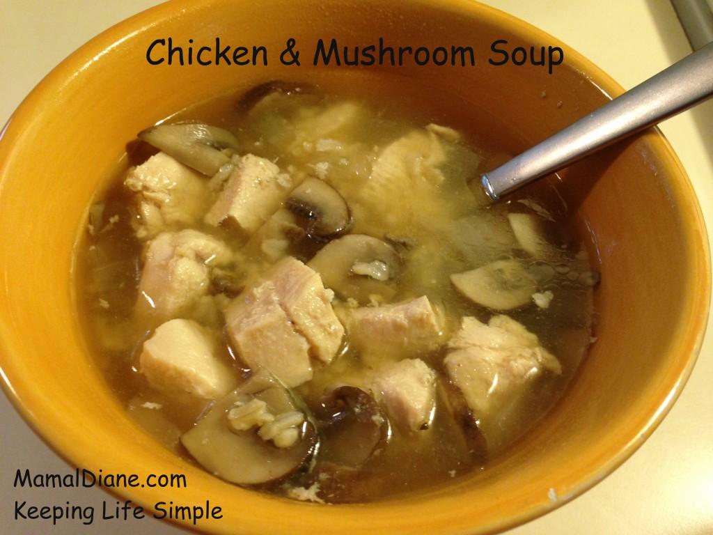Chicken & Mushroom Soup - Mamal Diane