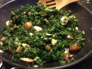 Spinach and Mushrooms 4