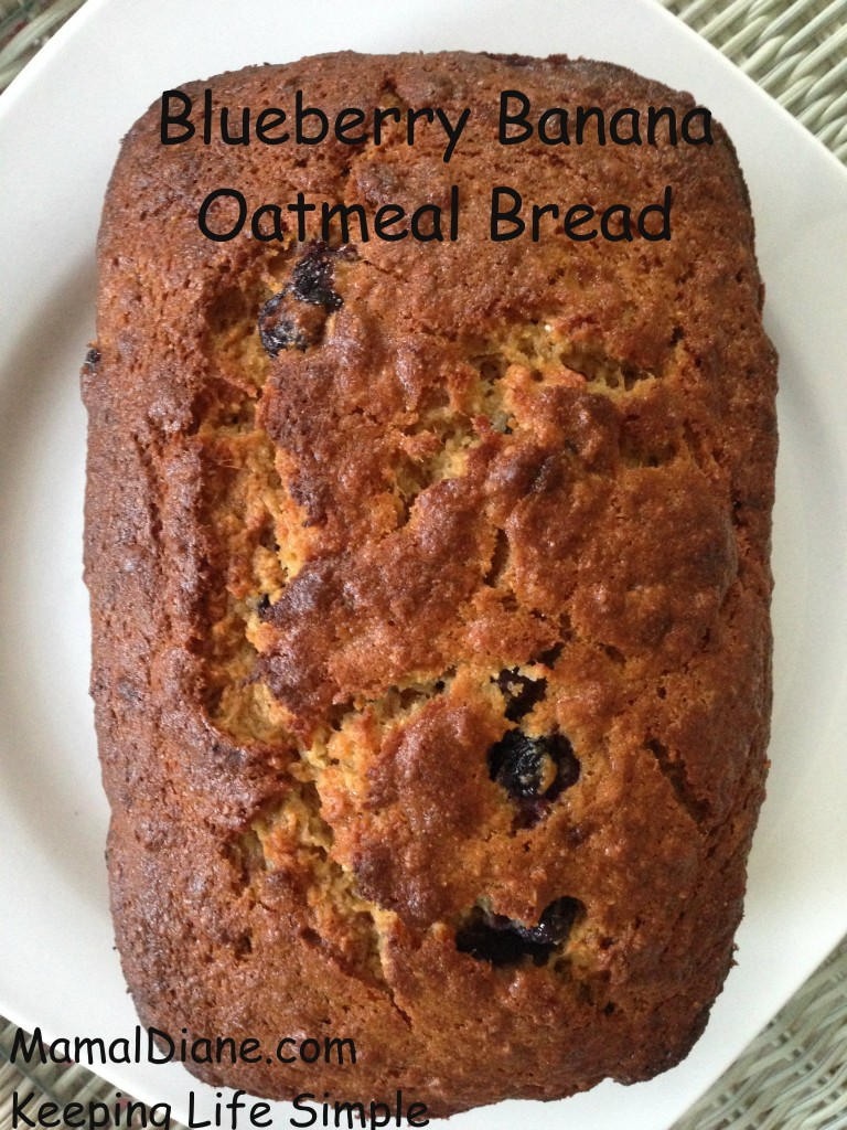 Blueberry Banana Oatmeal Bread 9