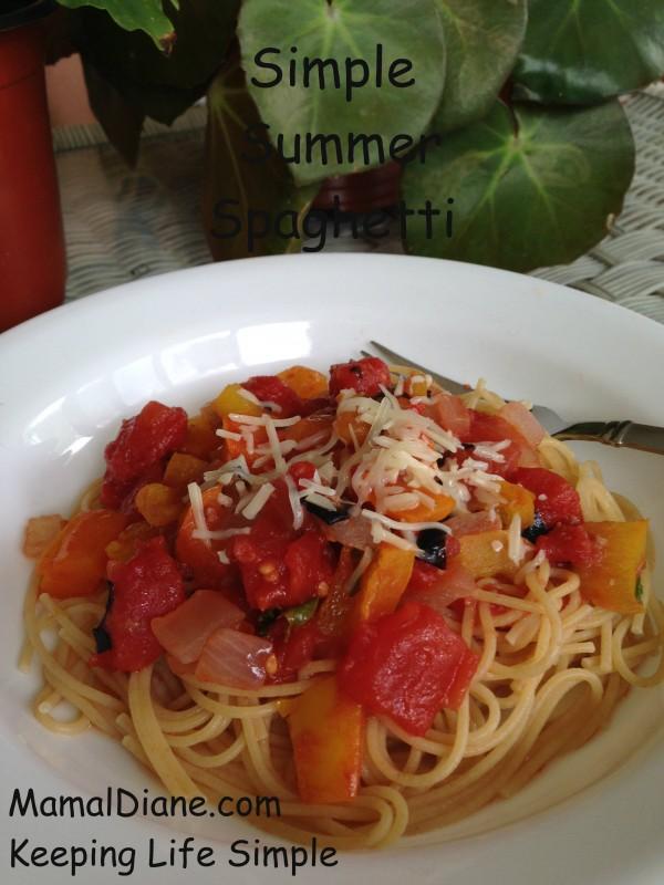 Simple Summer Spaghetti Sauce 148