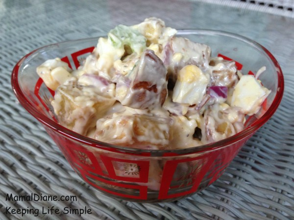Roasted Potato Salad with Bacon 058
