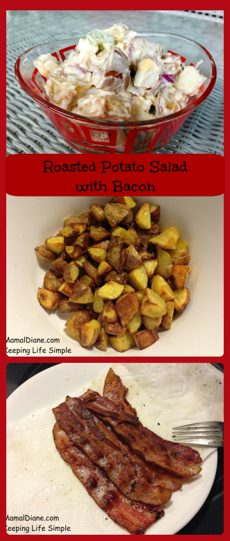 Roasted Potato Salad with Bacon collage