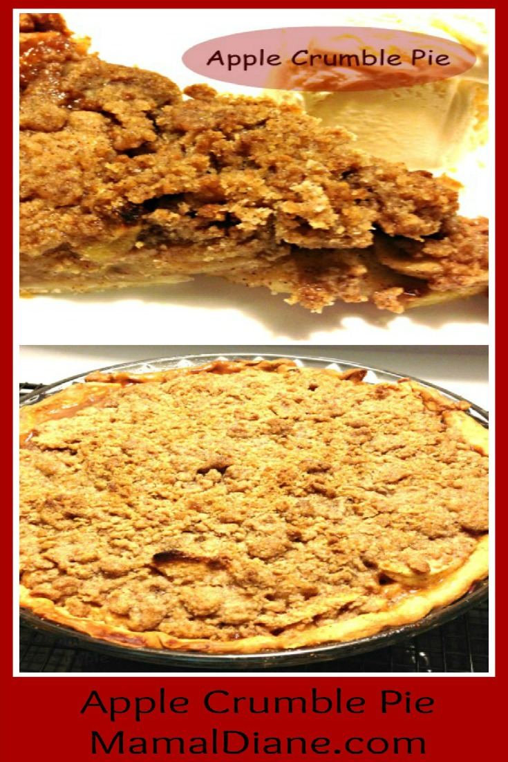 Apple Crumble Pie Collage a