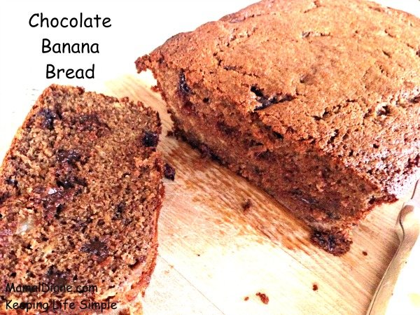 Chocolate Banana Bread with Carob Powder – Mamal Diane