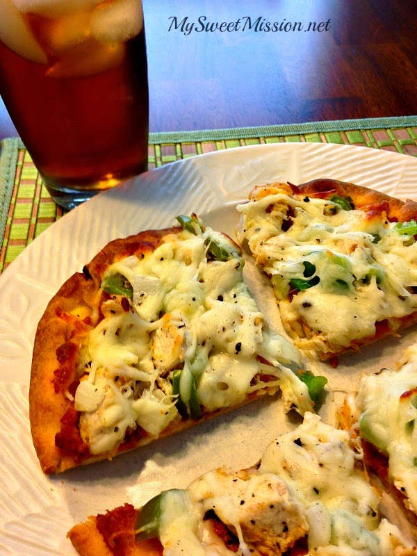 Savory Chicken & Cheese Naan Pizzas 3