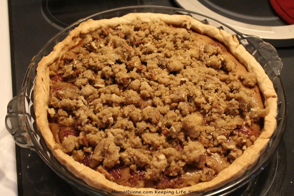 Creamy Raspberry Crunch Pie 10