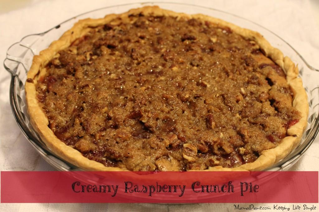 Creamy Raspberry Crunch Pie 11