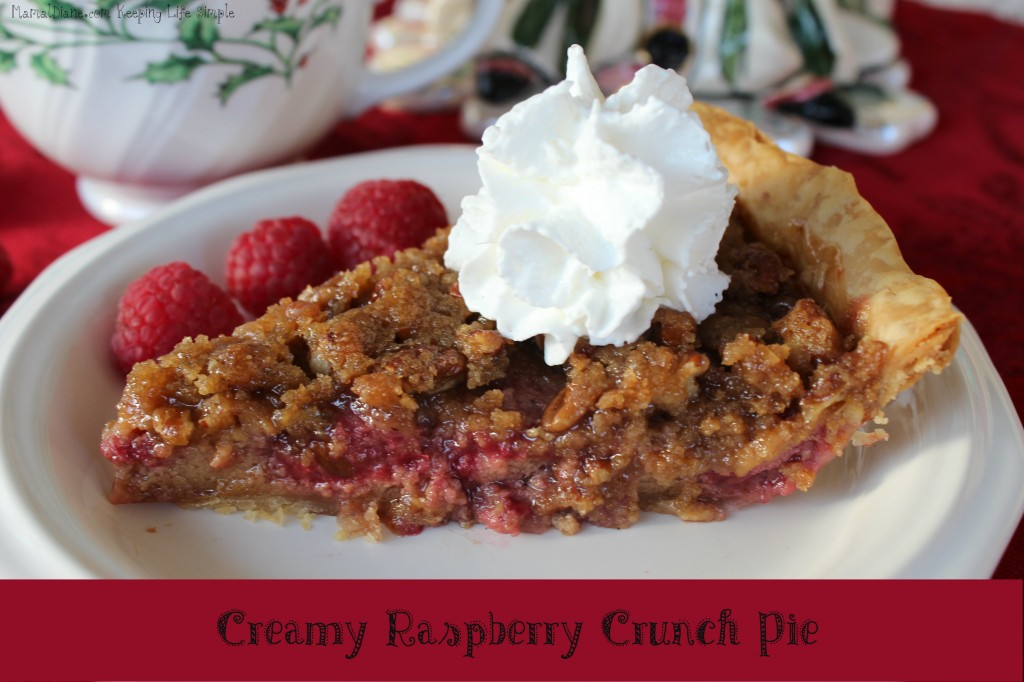 Creamy Raspberry Crunch Pie 12