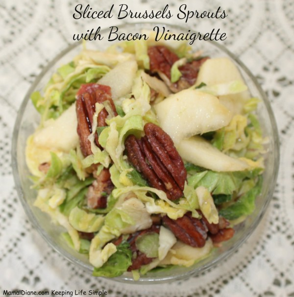 Sliced Brussels Sprouts with Bacon Vinaigrette 1