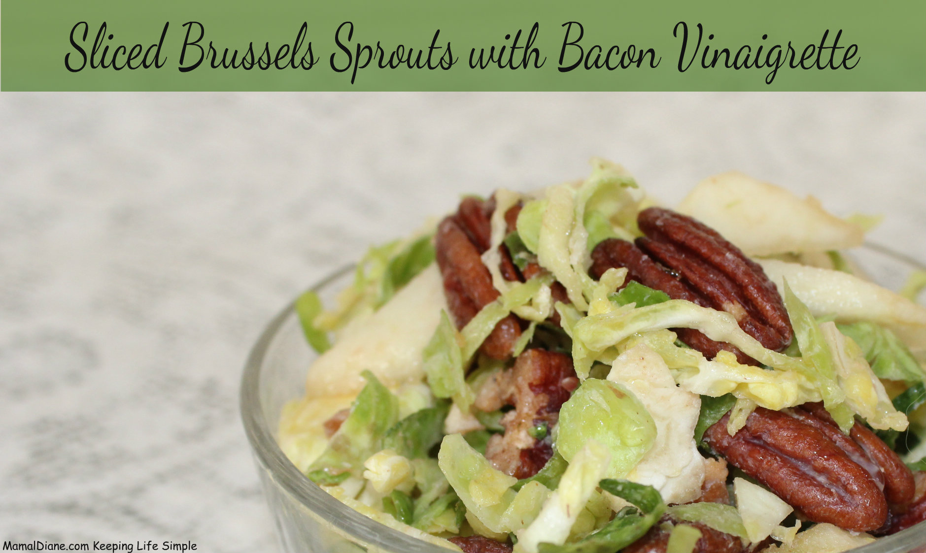 Sliced Brussels Sprouts with Bacon Vinaigrette 3