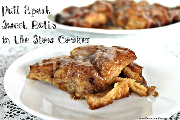 Pull Apart Sweet Rolls in the Slow Cooker A