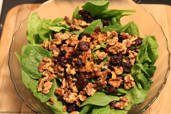 Walnut & Cherry Spinach Salad 2