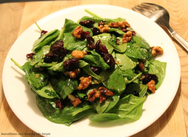 Walnut & Cherry Spinach Salad 4