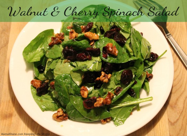 Walnut & Cherry Spinach Salad 7