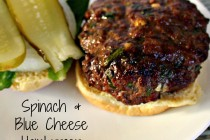 Spinach & Blue Cheese Hamburger 6