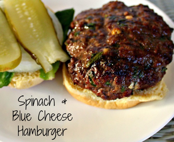 Spinach & Blue Cheese Hamburger 6