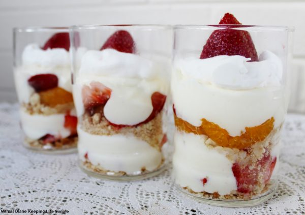 simple Strawberry Cheesecake Parfait