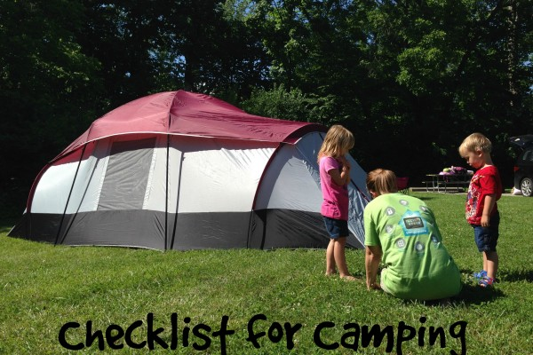 Checklist for Camping