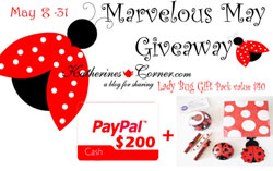 marvelous may giveaway button