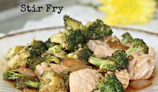 Broccoli & Pork Stir Fry 1