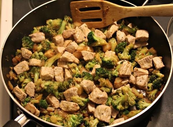 Broccoli & Pork Stir Fry 4