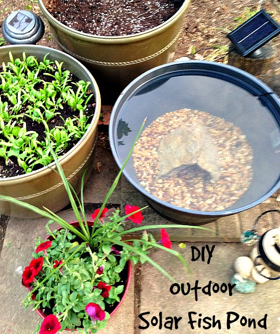 DIY Outdoor Solar Fish Pond 1
