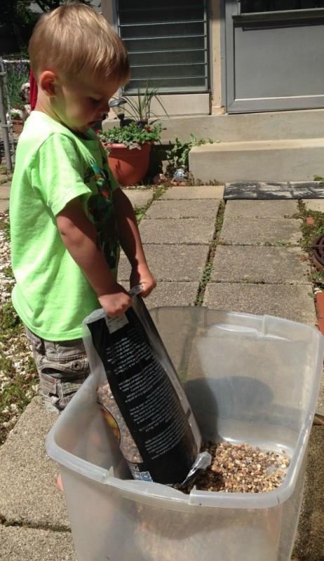 DIY Outdoor Solar Fish Pond 2