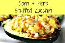 Corn and Herb Stuffed Zucchini 250