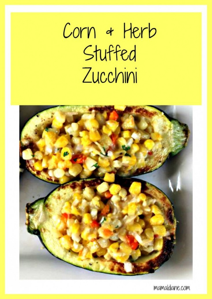 Corn and Herb Stuffed Zucchini Pinterest