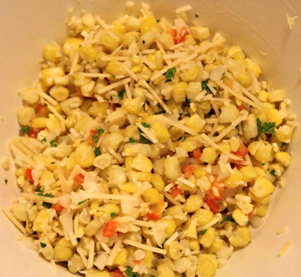 Corn and Herb Stuffed Zucchini c