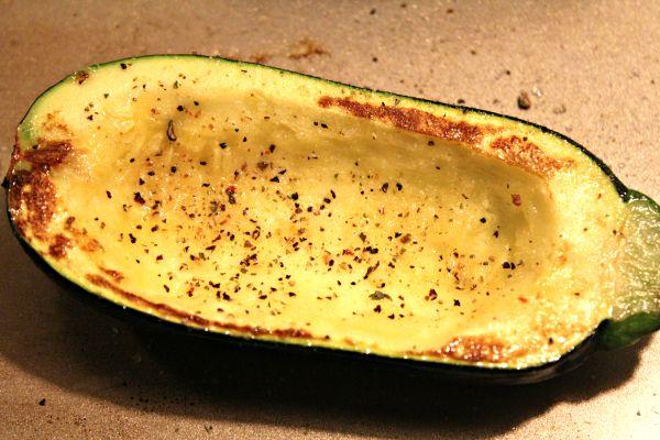 Corn and Herb Stuffed Zucchini d