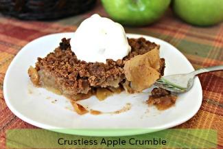 Crustless Apple Crumble 325x217