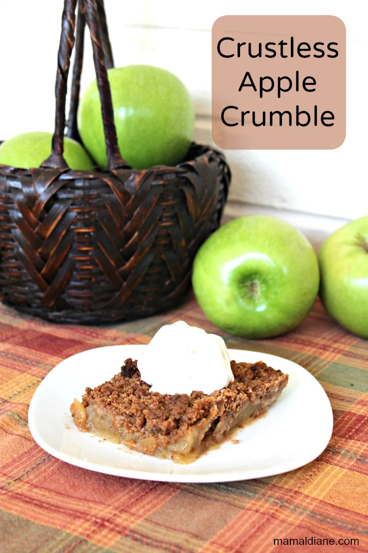 Lazy Day Crust-less Apple Crumble