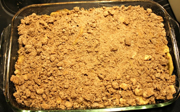 Crustless Apple Crumble c