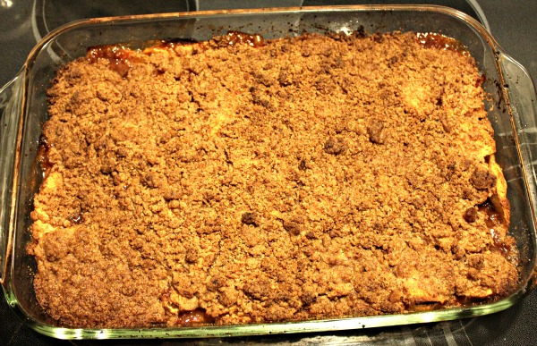 Crustless Apple Crumble d