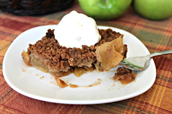 Crustless Apple Crumble f