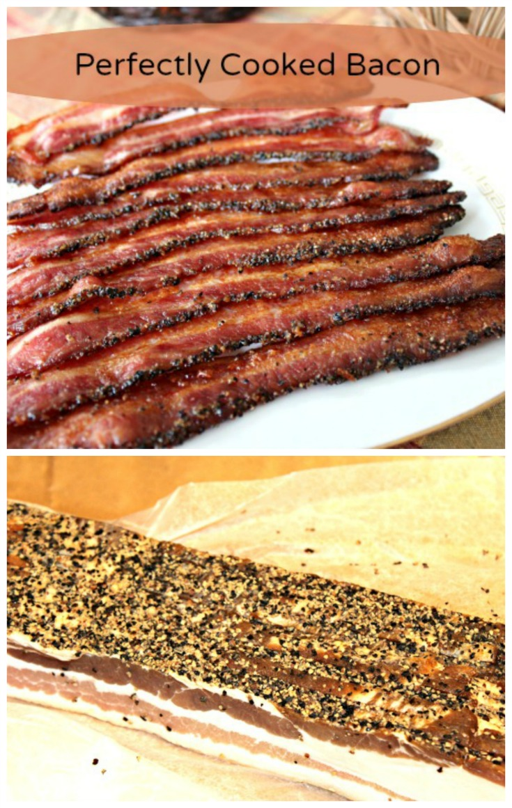 Perfectly Cooked Bacon Collage