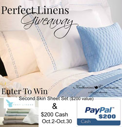 perfect linens giveaway sidebar