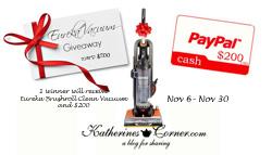 eureka vacuum giveaway sidebar