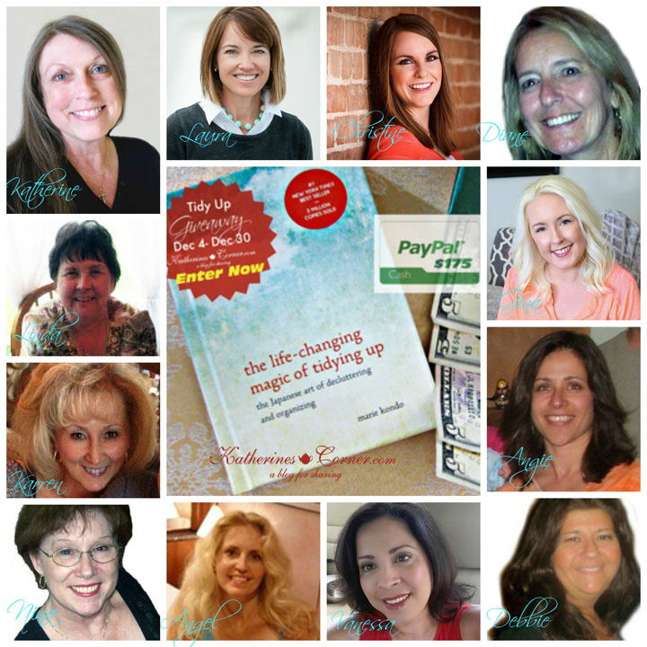 tidy up giveaway hostess collage