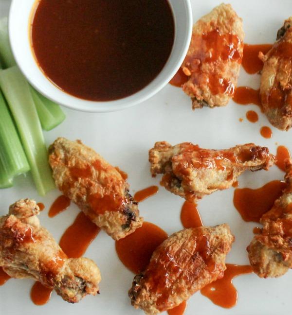 Crispy Wings with Honey Sriracha Dipping Sauce 1