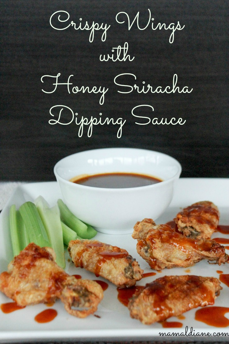 Crispy Wings with Honey Sriracha Dipping Sauce 3